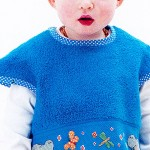 bavoir bleu rico design